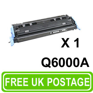 1 Black Toner Cartridge Q6000A For Colour LaserJet 1600 2600n 2605dn 2605dtn