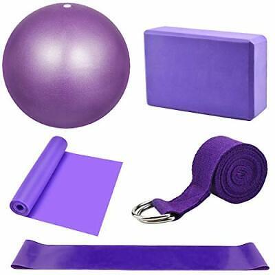 Yoga Starter Kit 5Pcs Yoga Blocks and Strap Set Yoga Ball Yoga Brick Exercise