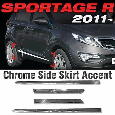 Chrome Side Skirt Accent Door Molding Trim For KIA 2011-2015 2016 Sportage R