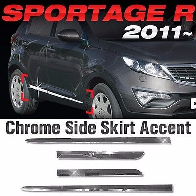 Chrome Side Skirt Accent Door Molding Trim For KIA 2011-2015 2016 Sportage R