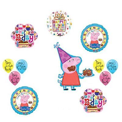 Peppa Pig Pink Birthday Party Balloon supplies and decorations kit