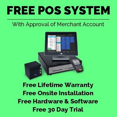 Free Pos System For Restaurant Retail With Touchscreen Register Printer
