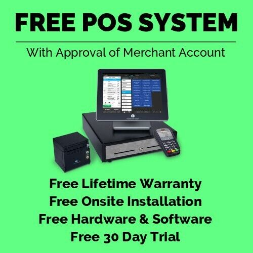 *FREE* POS System for Restaurant & Retail with Touchscreen, Register & Printer!!