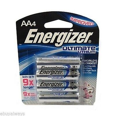 4 AA Energizer Ultimate Lithium Batteries L91BP-4 Exp. 2025 - 1.5v New - Sealed for sale  Corona