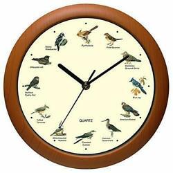 Singing Bird Wall Clock Audubon Society Battery Powered Home Clocks With Sound