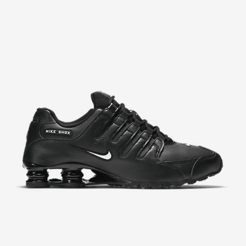 uk availability eacc6 73098 New Nike Men's Shox NZ EU Running Shoes (501524-091) Black // White-Black