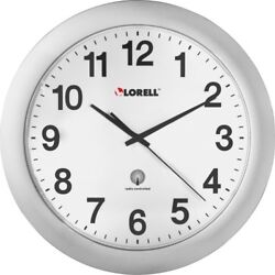 Lorell 12 Round Radio-controlled Wall Clock - Analog - Quartz - Atomic