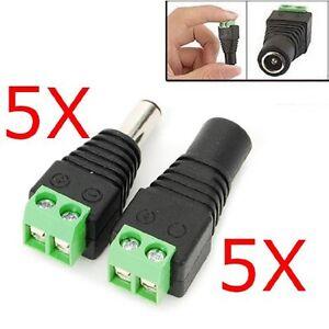 5Pcs-Male-amp-Female-Mark-Polarity-DC-Power-Jack-Adapter-Connector-Plug-Led-Strip