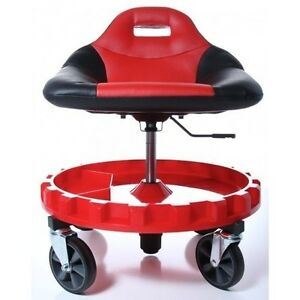 Heavy Duty Mechanics Creeper Seat Rolling Work Stool Tools