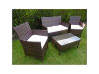 Mocha brown 3 piece ratan furniture set