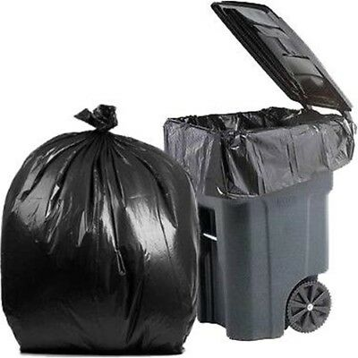 PlasticMill 64 Gallon, Black, 1.2 Mil, 50x60, 50 Bags/Case, Garbage Bags.