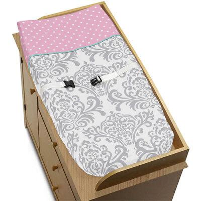Sweet Jojo Designs Changing Table Pad Cover For Skylar Crib Baby Bedding Set