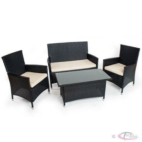 polyrattan essgruppe jetzt g nstig bei ebay kaufen ebay. Black Bedroom Furniture Sets. Home Design Ideas