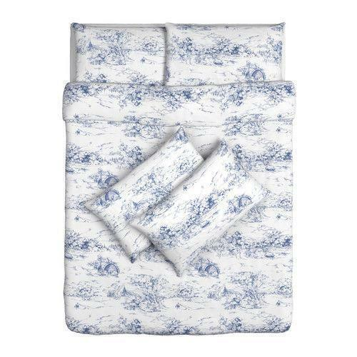 Ikea double duvet cover ebay for Ikea blue bed