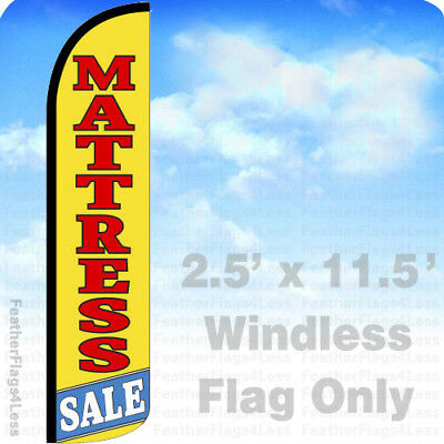 Mattress Sale - Windless Swooper Feather Flag Banner Sign 2.5x11.5 - Yz