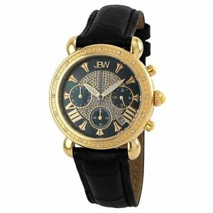 JBW Women's JB-6210L-F Victory Combo Black Leather Diamond Watch