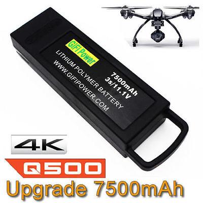 7500mAh 3S 11.1V Flight Lipo Battery For Yuneec Q500 4K Typhoon G RC Drone