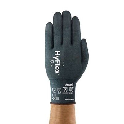 New Ansell Hyflex 11-541 Size 2x Nitrile Coated Cut A4 Safety Glove 2 Pack
