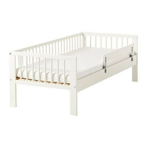 Two 2 Ikea Gulliver Junior Toddler Beds With Vikare Bed Guards White