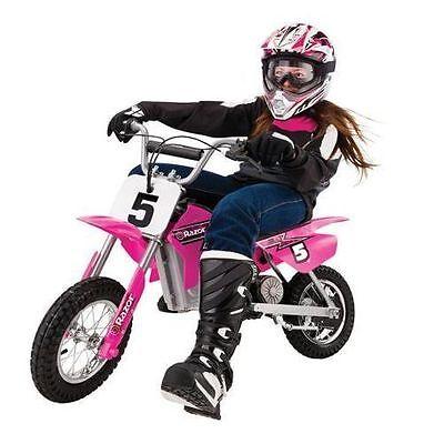NEW Razor USA PINK MX350 Electric Motocross Dirt Rocket Scooter Bike Motorcycle