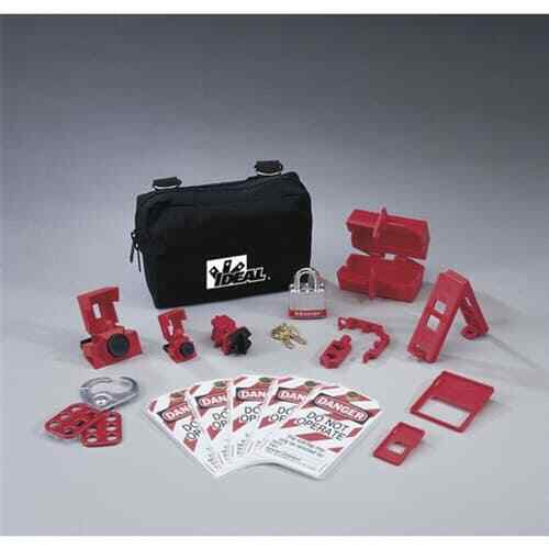 Ideal 44-970 15-Pieces Basic Lockout/Tagout Kit with Small Zippered Pouch