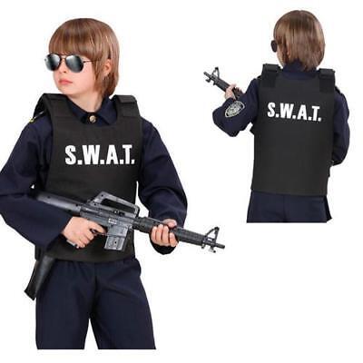 Swat Weste Kinder Kostüm Undercover Polizei Sondereinsatz Komando Jungen Kostüm ()