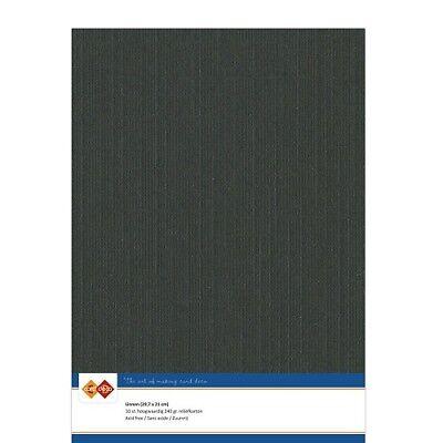 (EUR 4,81/m²) Leinenkarton 10xA4-Bogen schwarz 31
