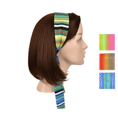 Colorful Headband Brightly Colored Striped Soft Headwrap w/Tails Girls Head Band Head Tail Bands