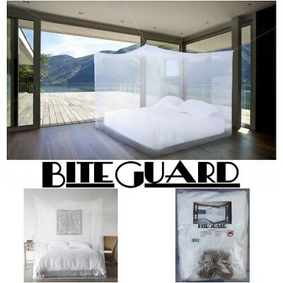 Mosquito net double king size canopy 4 post bed travel holiday accessories