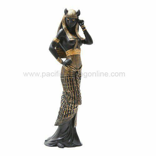 10.75 Inch Flirty Bastet Egyptian Mythological Goddess Statue Figurine