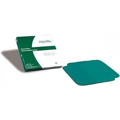Deepak Prehma Latex Rubber Dam 5 X 5 Thin Gauge Green Mint 36bx
