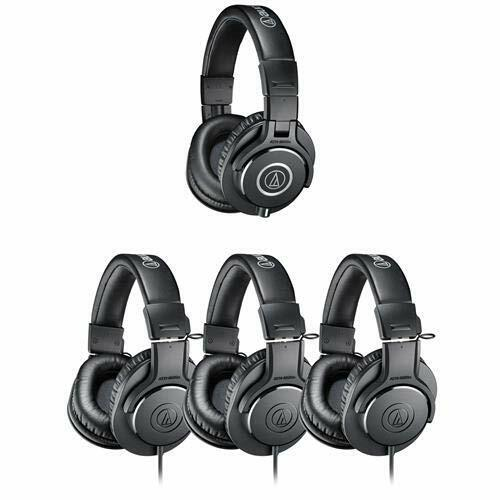 Professional Closed Back Studio Dynamic Headphones for Tracking & Mixing (4ct)