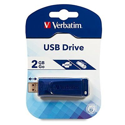 2GB Verbatim USB2.0 Flash Drive - (2 Gb Blue Usb)