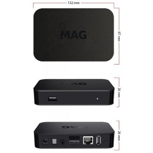NEW 2019 MAG322W1 IPTV SET-TOP BOX INFOMIR build-in wifi update for MAG 254 256