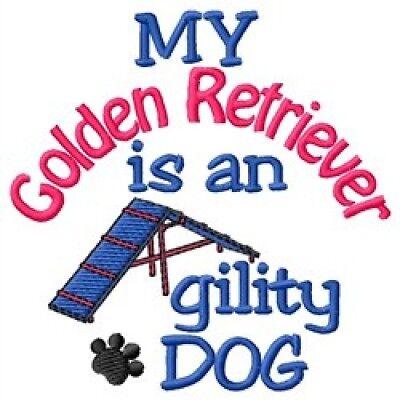 Golden Retriever Agility - My Golden Retriever is An Agility Dog Short-Sleeved Tee - DC1902L