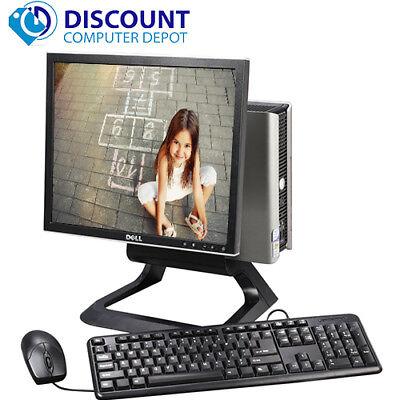"""Dell Optiplex All In One Desktop Computer Windows 10 Core 2 Duo 4GB 160GB 17""""LCD"""