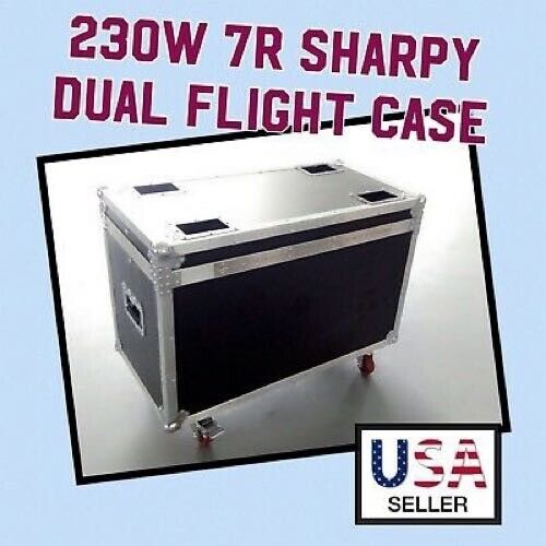 Flight Case 200w/230w 7R Sharpy Beam Moving Head Lights Dual With Wheels