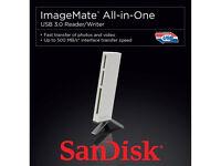 SanDisk ImageMate All-In-One USB 3.0 Reader/Writer SDDR-289-X20, White