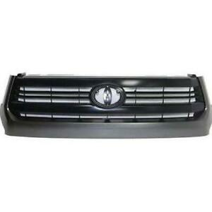 Grille Painted Black With Gray Moulding Sr Model Toyota Tundra 2014-2017