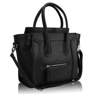 Black Leather Shoulder Bag Sale 38