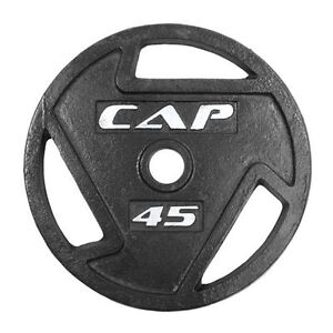 2 x 45 lbs cap barbell olympic weights metal