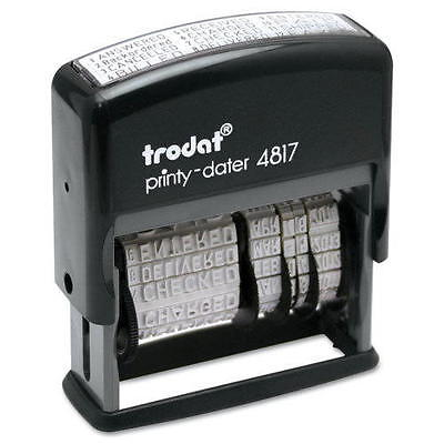Trodat 4817 Self-inking Print Phrase Dater Stamper Black Ink Pad Free Shipping