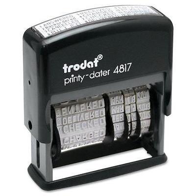 Trodat 4817 Self-inking Print Phrase Dater Stamper Black Ink Pad Free Shipping