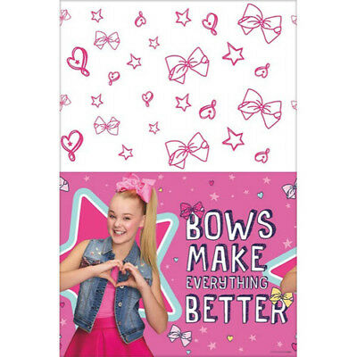 JOJO SIWA PINK PAPER TABLECOVER ~ Birthday Party Supplies Table Cover Cloth (Pink Paper Tablecloth)