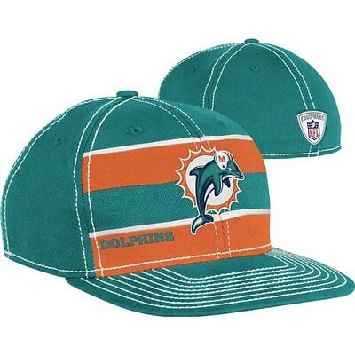 Miami Dolphins NFL Official Player Sideline Scrimmage Hat Cap Reebok S/M FINS FL