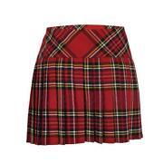Pleated Tartan Mini Skirt