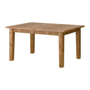 1.5 year new solid pine STORNÄS(Ikea) Extendable dining table