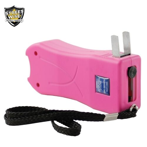 MINI PINK STUN GUN With FLASHLIGHT, 6.5 Million Volts, Holster Included - $15.99