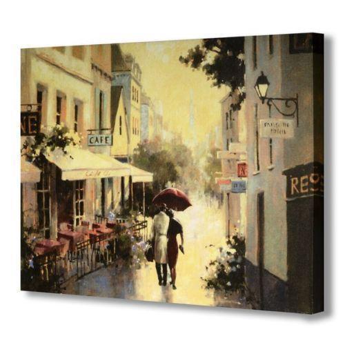 Street Scene Canvas Ebay