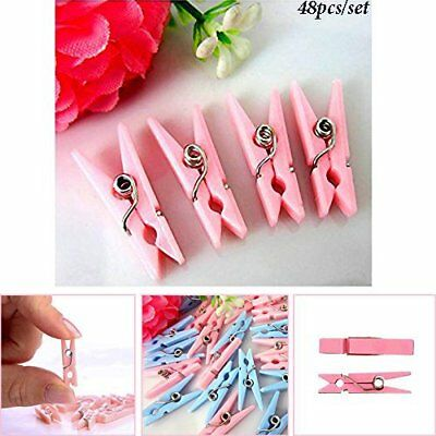 Mini Plastic BLUE PINK Baby Shower Clothespins Party Game Favors Decorations